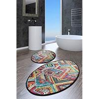 NERGE.BE | Badezimmer-Teppich Motiv MAGLIE | Badgarnitur Set Badematten Set Badteppich Set Badvorleger Set | Größen 60x100 cm - 50x60 cm
