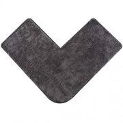 Santec Hochflor-Badteppich aus Mikrofaser für Eckduschen mit rutschfester Unterseite