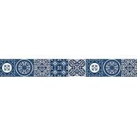 Selbstklebende Bordüre AZULEJOS blau 15 x 300 cm