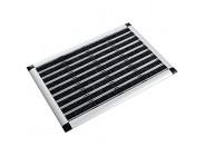 casa pura® Aluminium - Fußabstreifer für außen und innen | Fußmatte mit hoher Reinigungswirkung & attraktiver Metall Optik | Fußmatten für die Haustür | 2 Größen 49x80cm