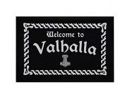 MoonWorks® Fußmatte Fußmatte mit Spruch Welcome to Valhalla Willkommen nordische Mythologie Odin Thor rutschfest & waschbar schwarz 60x40cm