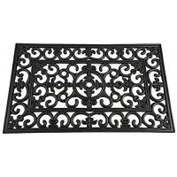 Siena Garden Fußmatte Welcome Willkommen Anti-Rutsch-Effekt schwarz 45x75cm 548179