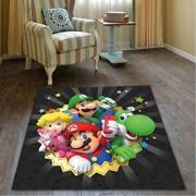 chengcheng Super Mario Brothers Spielteppich rutschfeste quadratische hängende Korb Teppich Tür Stuhl Matte120x120cm