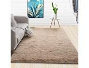 haiba Teppich Rund - Hellgrau Hochflor Langflor Modern Teppiche Fürs Wohnzimmer Schlafzimmer Esszimmer Oder Kinderzimmer 200x220CM