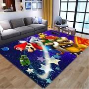 KegamiMisa Cartoon Super Mario Kinderzimmer Kinder Teppiche Teppiche Wohnzimmer Teppichboden Schlafzimmer Fußmatte rutschfeste Bodenmatte 80X150Cm