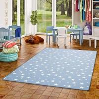 Snapstyle Kinder Spiel Teppich Sterne Blau in 24 Größen