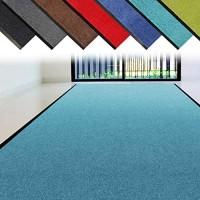 casa pura Schmutzfangläufer Meterware   1 2 m breiter Flur Teppich gegen Feuchtigkeit und Schmutz   rutschfest und einfarbig Türkis - 5 m Länge