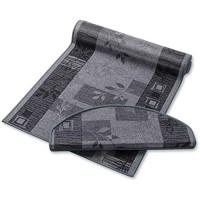 casa pura Teppich Läufer grau mit Pflanzenmusterung   Qualitätsprodukt aus Deutschland   GUT Siegel   kombinierbar mit Stufenmatten   3 Breiten und 27 Längen 80 x 200cm