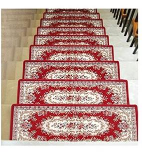 HSWYJJPFB Treppenteppiche Stufenmatten Treppen-Teppich Rechteck Treppensteigboden Selbstklebend Rutschhemmend 4 Farben 30x90CM Farbe : A Größe : 1PCS 30x90CM