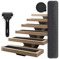 LGYKUMEG 15x Antirutschstreifen Treppe rutschfest Stufenmatten Rutsch Streifen Treppenstufen Matten Rutschschutz Antirutschstreifen mit Installationsrolle für Treppen Außen und Innen Schwarz