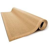 casa pura® Sisal Teppich aus Naturfasern mit Bordüre aus Baumwolle | pflegeleicht | Größe wählbar Natur 160 x 230 cm