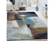 Paco Home Designer Teppich Modern Kurzflor Wohnzimmer Bunt Trendig Meliert Multicolour Grösse:160x230 cm