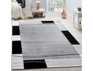 Paco Home Designer Teppich Wohnzimmer Teppich Bordüre in Grau Schwarz Creme Preishammer Grösse:120x170 cm