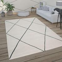 Paco Home Teppich Wohnzimmer Skandi Rauten Muster Modern Weiß Verschiedene Designs Größen Grösse:160x230 cm Farbe:Weiß 3