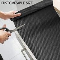 Besmall Antirutschmatte Mehrzweck Anti Rutsch Teppichunterlage Schubladenmatte Teppichstopper Rutschschutz Unterlage für Teppich Schubladen Auto Küche Zuschneidbar 45x300cm Schwarz