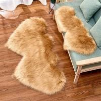 Doppel Herz Form Plüsch Rutschfest Teppich Einfache Wohnzimmer Bodenmatte Teppich Sofa Kissen Schlafzimmer Bodenmatte Plüsch maschinenwaschbar pflegeleicht 6 35 x 70 cm