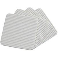 WINOMO 4Pcs Anti- Skid Teppich Aufkleber Selbst Klebe Teppich Aufkleber Non Slip Reusable Teppich Pad Band für Hartholz Böden Fliesen Böden Teppiche Fußmatten Wand