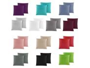 Doppelpack Baumwolle Renforcé Kissenbezug Kissenbezüge Kissenhüllen 40x40 cm in 14 modernen Farben Anthrazit