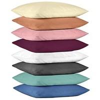 Hometex Premium Textiles 2-er Set Kissenhülle Mikrofaser   Doppelpack Kissenbezüge ca. 95 g/m²   ÖKO-TEX Standard Kissen-Bezug mit Reißverschluss 40 x 40 cm Altrosa