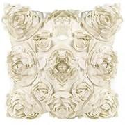 Leisial™ Rosen Kissenbezug Blumen Kissen Cover Gestreift Zierkissenbezüge für Hotel Kissen Beige 42x42CM