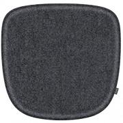 Feltd. Eco Filz Kissen geeignet für Vitra Eames Armchair DAW DAR DAX RAR DAL - 30 Farben - optional mit Antirutsch und gepolstert! anthrazitmeliert