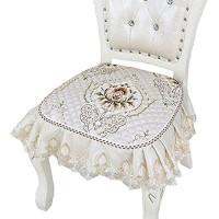 YUMUO Rüsche Spitze Stuhlkissen Polyester Küche Sitzpolster Slip Sitzschutz Für Dining Chair Decor A 45x43cm18x17inch