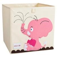 ELLEMOI Aufbewahrungsboxen für Kinderzimmer Große Kapazität Faltbar Aufbewahrung Spielzeug Kleidung Schuhe Aufbewahrungsbox Elefant