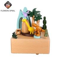 Handaufzug Buche Musik Box, Dinosaurier Paradies Musik Box, Kreative Hause Dekoration Ornamente, kinder Tag Geschenke Musikboxen
