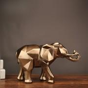 2019 moderne Abstrakte Goldene Elefanten Statue Harz Ornament Hause Dekoration Zubehör Geschenke für Elefanten Skulptur Tier Handwerk Statuen & Skulpturen