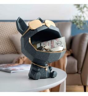 Harz Großen Mund Hund Dekorative Figuren Lagerung Box Hause Dekoration Skulptur Moderne Kunst Zubehör Für Wohnzimmer Statuen & Skulpturen