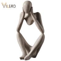VILEAD Nordic Abasract Denker Statue Harz Figurine Office Home Dekoration Desktop Decor Handgemachte Handwerk Skulptur Moderne Kunst Statuen & Skulpturen