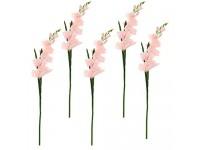 B Blesiya 5X Künstliche Gladiolen Blumen Kunstblumen Seidenblumen Ornament für Haus Büro Hotel und Restaurant
