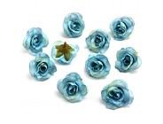 Fake flower heads in bulk wholesale Künstliche Pfingstrosen Kunstblumen aus Seide Hochzeitsdekoration DIY-Deko-Kranz künstliche Blumen Party Geburtstag Heimdekoration 30 Stück 3 5 cm blau