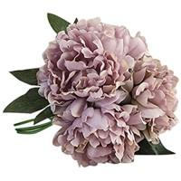 Longra Wohnaccessoires & Deko Kunstblumen Künstliche Seide Kunstblumen Pfingstrose Blumen Hochzeit Bouquet Braut Hortensie Dekor C