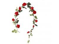 Noete Gefälschte Pflanze Simulation Rose Rebe Seide Blumen Hochzeit Wand hängen Stock Dekoration Kunstblumen im Topf Gefälschte Blumen für Zuhause Hochzeit Party Speicher Dekoration 180cm