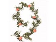 WXIANG Kunstblumen Künstliche Seide Blumen Efeu Girlande Gefälschte Weinreben Hängende Pflanze Blätter Für Hochzeit Garten Wand Valentine Dekorationen Künstliche Pflanze Color : D