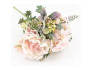 YSQSPWS Kunstblumen Künstliche Blumen hochwertiger Seide Blumenstrauß nach Hause Hochzeit Dekor Kunststoff gefälschte Blume Tischdekoration Anordnung lebensecht Color : Pink Size : 1 pc