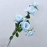 ETDWA Hochzeitssimulation glückliche Blume Langer Zweig Rose gefälschte Blume Seide Blume Blumenarrangement Blumenarrangement Fenster Fotografie Requisite Dekoration blau