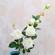 FSFF Künstliche Blumenarrangement Blumenarrangements in Vase künstliche Rose Real Touch Blumen für Wohnkultur Hochzeit Partys Büros Restaurants DIY Dekoration 5 Sticks-6 kleinen Winkel Rose-W