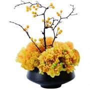 HTL Schöne Künstliche Blumen Künstlich Huanglai Bonsai Mit Beeren Für Das Wohnzimmer Hotel Büro Platzierung Künstliche Blume Bonsai Seidenblume Bonsai Gefälschte Pflanzen Dekor Klein Klein