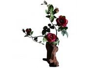 JIN Schöne Dekoration Künstliche Blumen 26Inch Künstliche Blume Bonsai Gefälschte Blumen Gebraucht Für Home Office Hotel Wohnzimmer Retro Seidenblume Bonsai Kreative Blumentopf Gefälschte Blumen