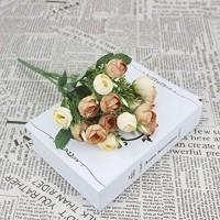 Künstliche Blumen 15 Mini Schöne Seide Pfingstrose Künstliche Blumen Brautstrauß Gefälschte Rosenstrauß Hochzeit Familienfeier Dekoration DIY