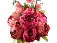 Leagel Künstliche Pfingstrosen Kunstblumen Vintage Seide Blumenstrauß Hochzeit Heimdekoration 1 Stück Neu Rot