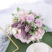 WJFQ Künstliche Blumen Künstliche gefälschte Blumen Braut-Holding-Hochzeits-Blumenstrauß for Shoting Hochzeit Home Hotel-Partei-Dekoration Blumenarrangements