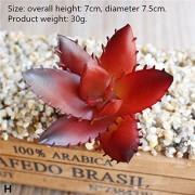 ZJHCC Künstliche künstliche Mini vergossene rote saftige Pflanzenvase gefälschte Bonsai Set Blume dekorierte Vase Hauptdekoration Balkon ^ h