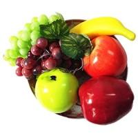 BSGP Künstliche Früchte dekorativ gemischt Kunststoff 6 Stück