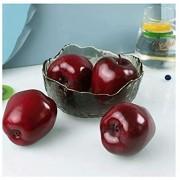 Fruchts Dekorativ Künstliche rote Äpfel Lebensechte Simulation Äpfel Frucht Gefälschte Apfel Für Home Küchentisch Korb Dekoration Fotografie Unterrichtsausrüstung 4 stücke Realistic Künstlich Frucht