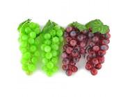 SAMYO Künstliche Trauben 4 Sträuße künstliche Früchte Grün und Violett Dekoration für Zuhause Küche Party lebensecht