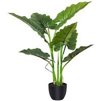 Fopamtri Künstliche Calla-Lilien 78 9 cm mit 7 Blättern Kunstpflanze für drinnen und draußen künstliche Pflanzen im Topf für Zuhause Büro perfektes Einweihungsgeschenk
