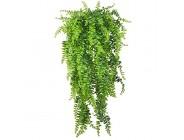 Künstliche Pflanzen Reben Farne Persischer Rattan Gefälschte hängende Pflanze Faux hängend Boston Farn Blumen Rebe Draussen UV-beständige Kunststoffpflanzen zum Wand Hängende Körbe Dekor-2Stck